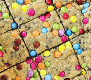 Cookie Slab with M&M's
